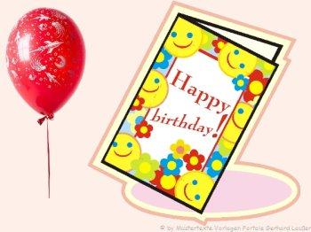 Herzliche Glückwünsche Geburtstag